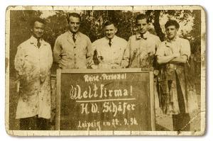 Foto der Schultafelfabrik von 1936